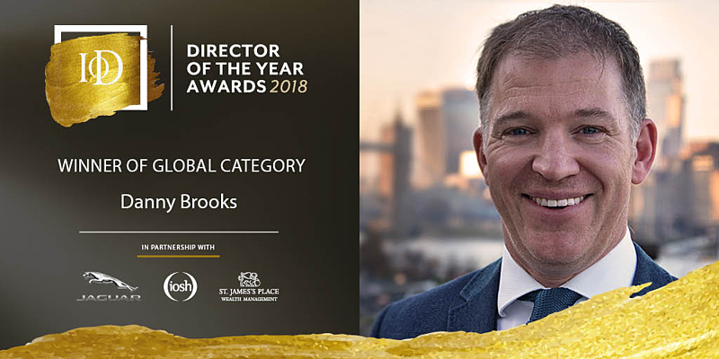 Danny Brooks VHR Global Technical Recruitment IoD Awards Global Director of the Year