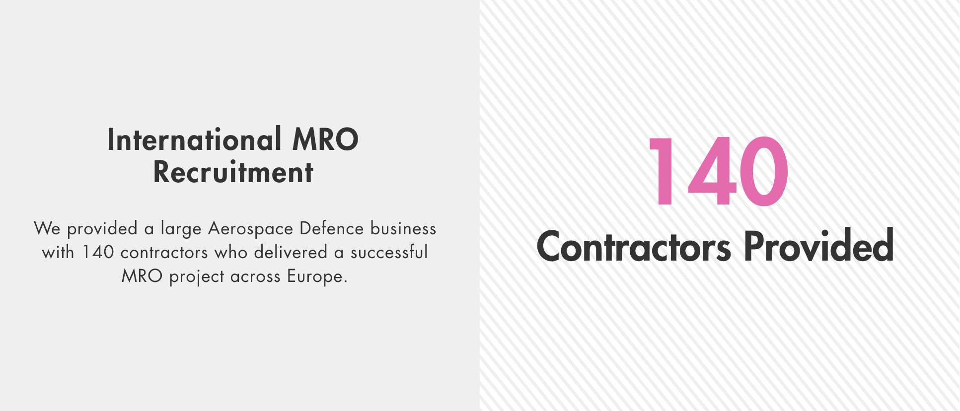 International MRO Recruitment Project
