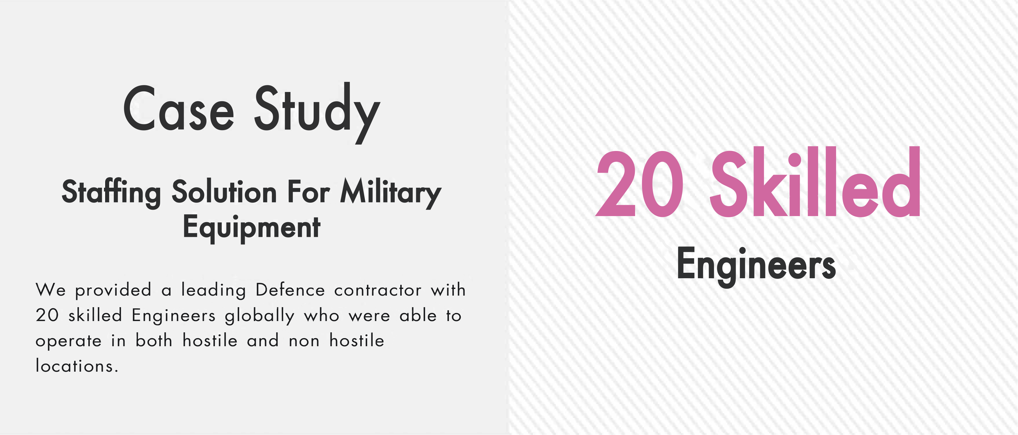 Staffing Solution for Military Equipment